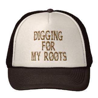 Excavación para mis raíces gorro de camionero