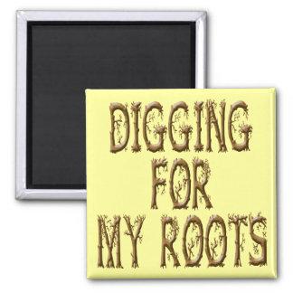 Excavación para mis raíces imanes