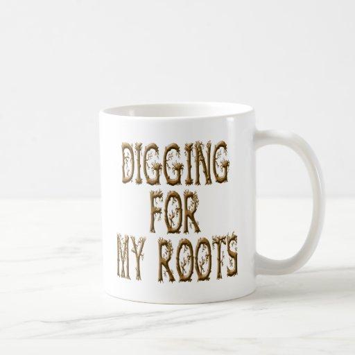 Excavación para mis raíces tazas