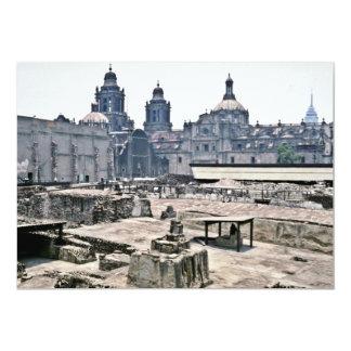 Excavaciones cubiertas del sitio azteca, Ciudad de Invitación 12,7 X 17,8 Cm