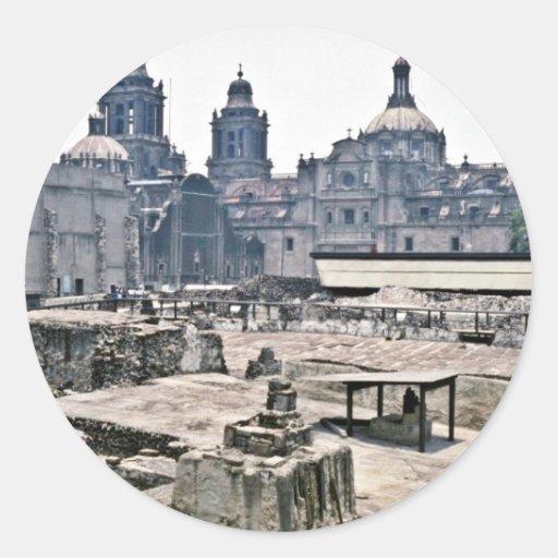 Excavaciones cubiertas del sitio azteca, Ciudad de Etiqueta Redonda