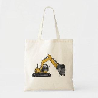 Excavador amarillo grande