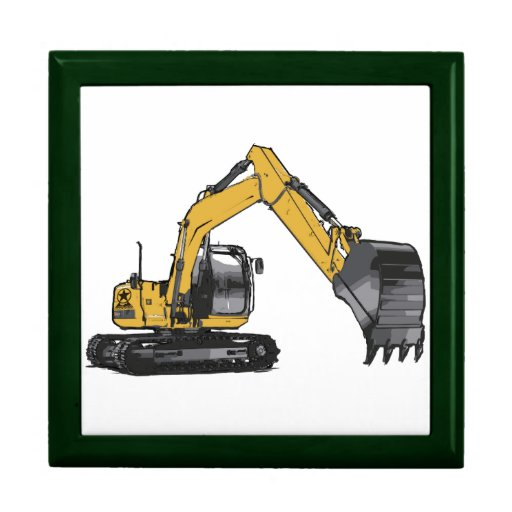Excavador amarillo grande caja de regalo