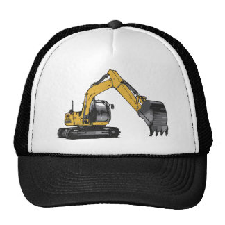 Excavador amarillo grande gorras de camionero