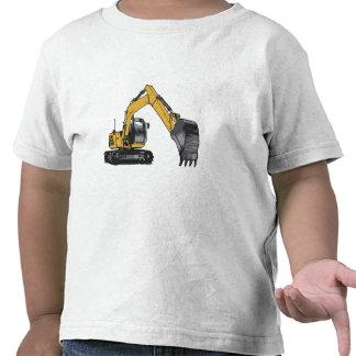 Excavador amarillo grande camiseta