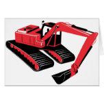 excavador de la construcción del cavador mecánico tarjetón