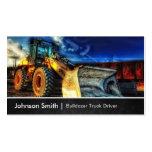 Excavador de la niveladora - conductor de camión d tarjetas personales