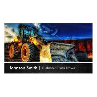 Excavador de la niveladora - conductor de camión tarjetas de visita