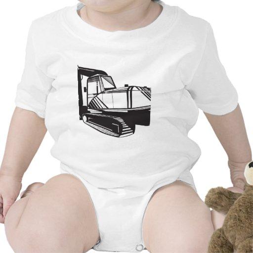 Excavador del cavador mecánico retro traje de bebé