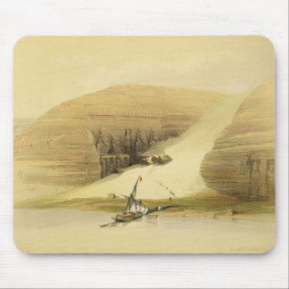 """Excavated Temple of Abu Simbel, from """"Egypt and Nu Mouse Pad"""