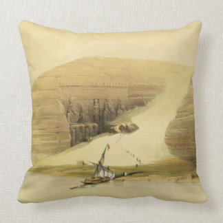 "Excavated Temple of Abu Simbel, from ""Egypt and Nu Throw Pillow"