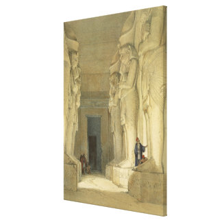 """Excavated Temple of Gysha, Nubia, from """"Egypt and Gallery Wrapped Canvas"""