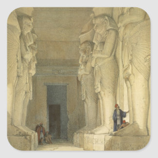 """Excavated Temple of Gysha, Nubia, from """"Egypt and Square Sticker"""