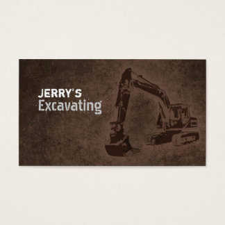 Excavating Business Cards