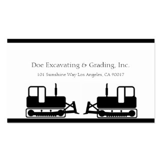 Excavating Grading Contractor Excavator Grader W W Business Cards