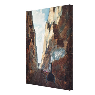 Excavation of Olive Mount, Miles from Canvas Print