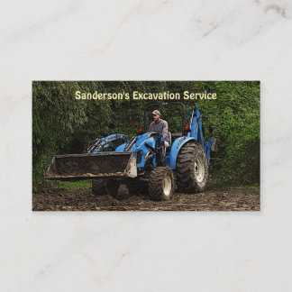 Excavation Service Business Card