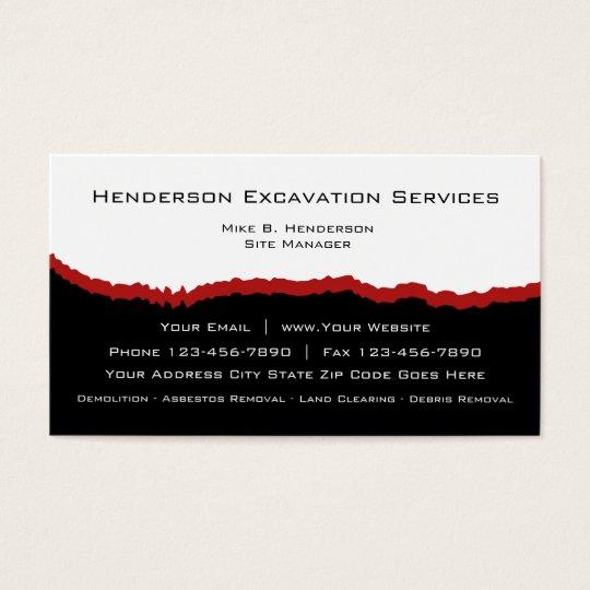 Excavation services business card zazzle excavation services business card reheart Image collections