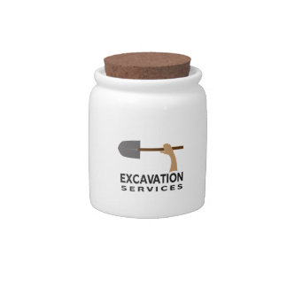 EXCAVATION SERVICES CANDY DISH