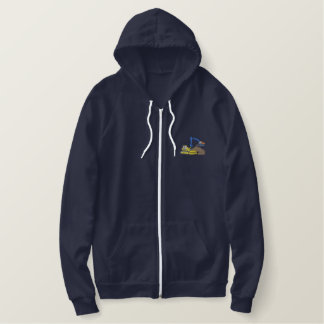Excavator and Dozer Embroidered Hoodie