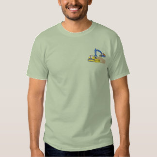 Excavator and Dozer Embroidered T-Shirt