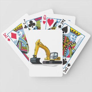 Excavator Bicycle Playing Cards