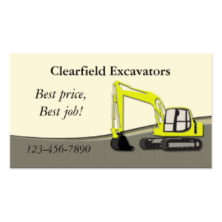 Excavator Business Card Template