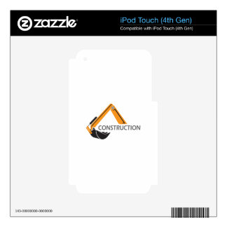 EXCAVATOR CONSRUCTION iPod TOUCH 4G SKIN