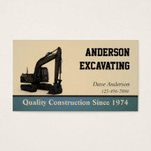 Excavating business cards images business card template excavation business cards templates zazzle reheart Choice Image