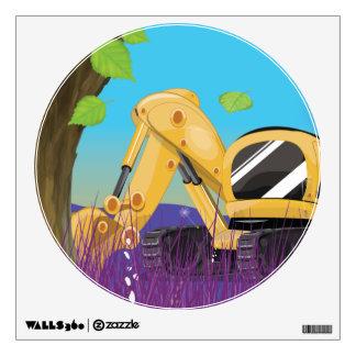 Excavator deforestation. wall sticker