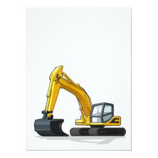 Excavator Personalized Announcement