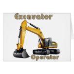 Excavator Operator Greeting Card