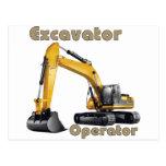 Excavator Operator Postcard