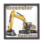Excavator Operator Premium Jewelry Box