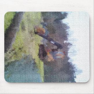 excavator photo texture mouse pad