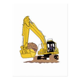 Excavator Postcard
