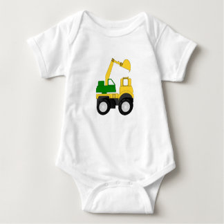 Excavator Truck Baby Bodysuit