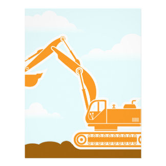 Excavator Vector Letterhead