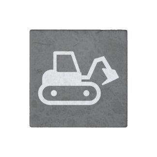 Excavators Pictograph Stone Magnet