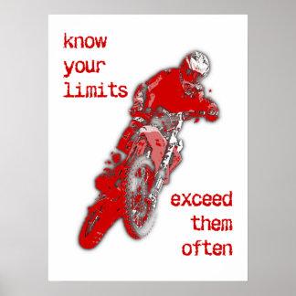 Exceda su poster del motocrós de la bici de la póster