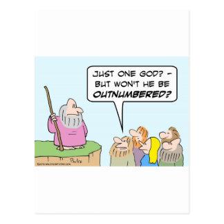 Excederán en número a un dios de Moses Tarjetas Postales
