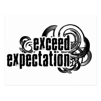 Exceed-Expectations Postcard