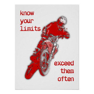 Exceed Your Limits Dirt Bike Motocross Poster