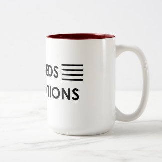 """""""Exceeds expectations """" Two-Tone Coffee Mug"""