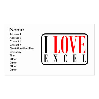 Excel, Alabama Double-Sided Standard Business Cards (Pack Of 100)