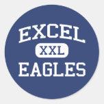 Excel - Eagles - High School secundaria - Yakima Pegatina Redonda
