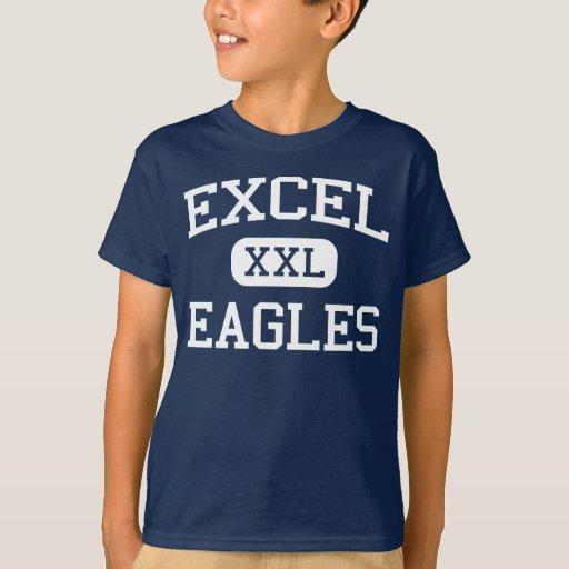 Excel - Eagles - High School secundaria - Yakima Playera