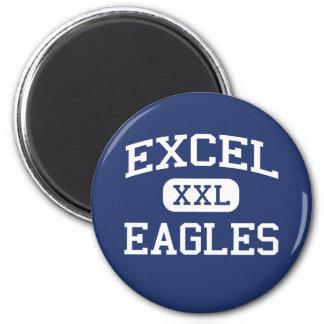 Excel - Eagles - High School secundaria - Yakima W Imán Redondo 5 Cm