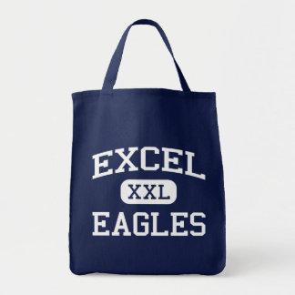 Excel - Eagles - High School - Yakima Washington Canvas Bags