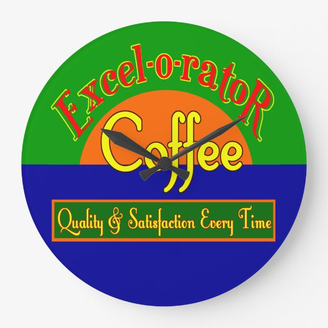 Excel-o-rator Coffee Retro Wall Clock